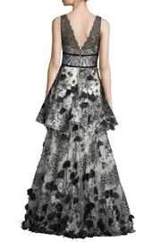 Notte by Marchesa Tiered Embroidered Gown - Front full body