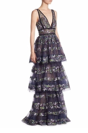 Notte by Marchesa Sleeveless Evening Gown - Product Mini Image