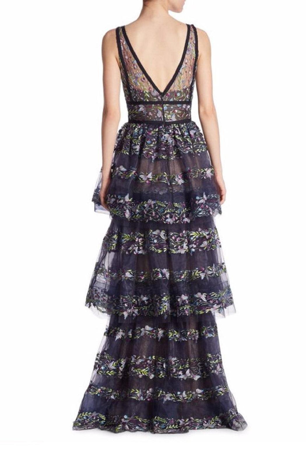 Marchesa Sleeveless Evening Gown - Front Full Image