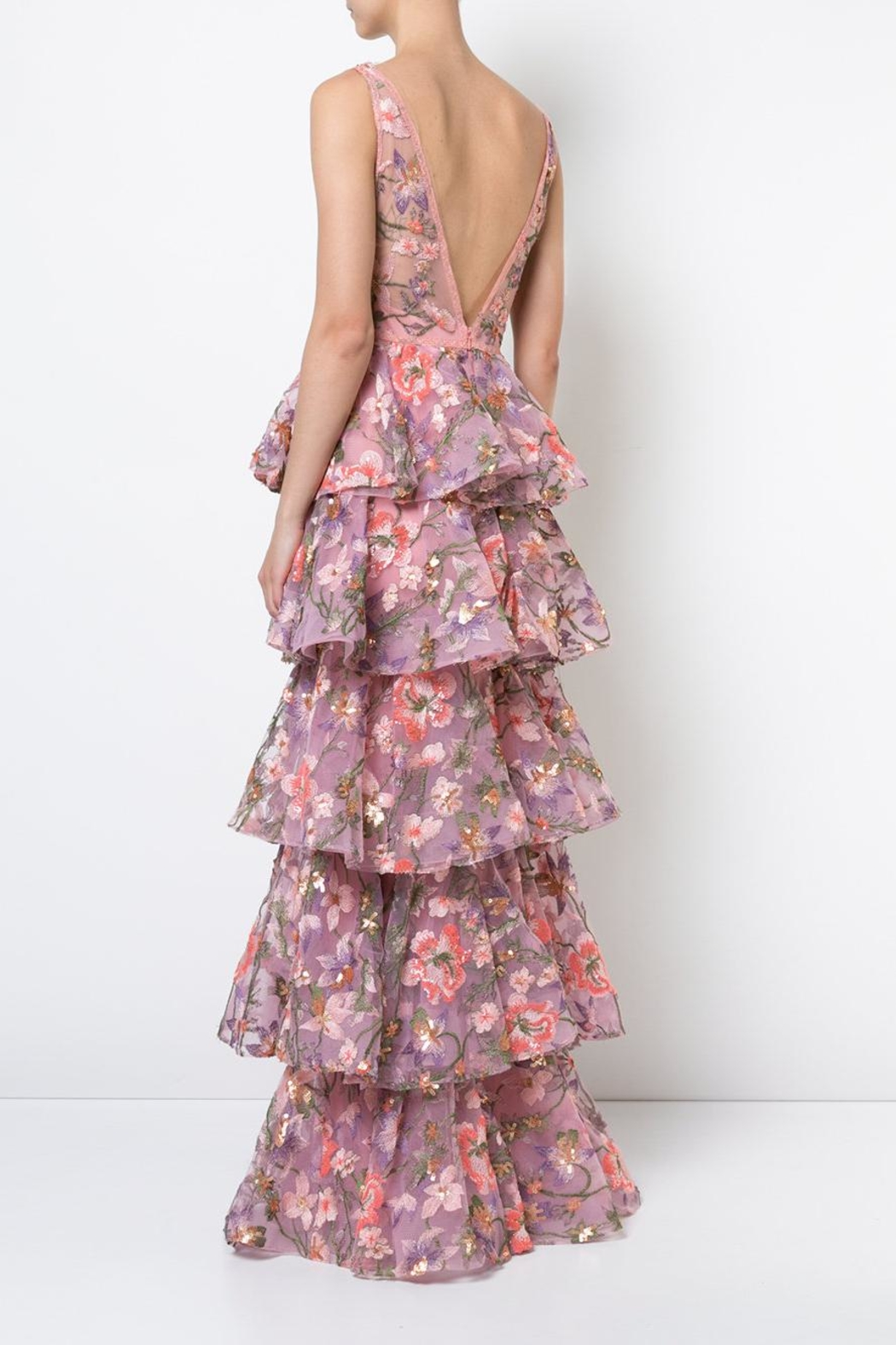 Notte by Marchesa Sleeveless Floral Gown - Side Cropped Image