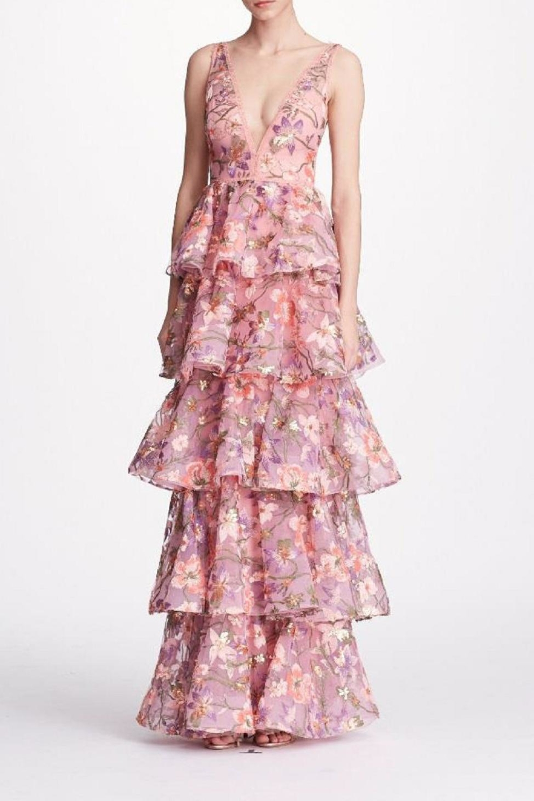 Notte by Marchesa Sleeveless Floral Gown - Main Image