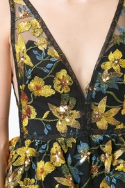Marchesa Sleeveless Floral Gown - Side cropped