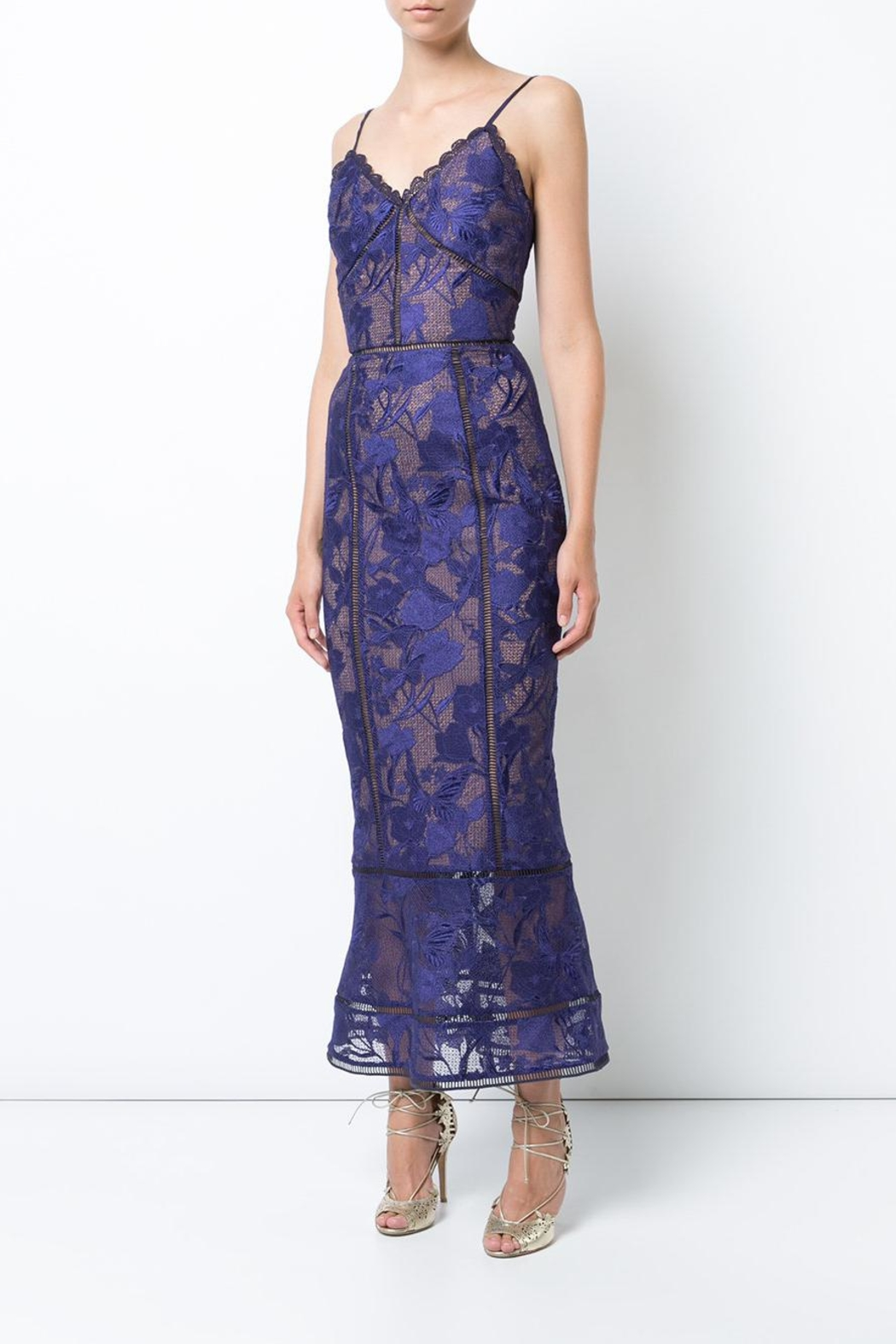 Notte by Marchesa Sleeveless Guipure Dress - Main Image
