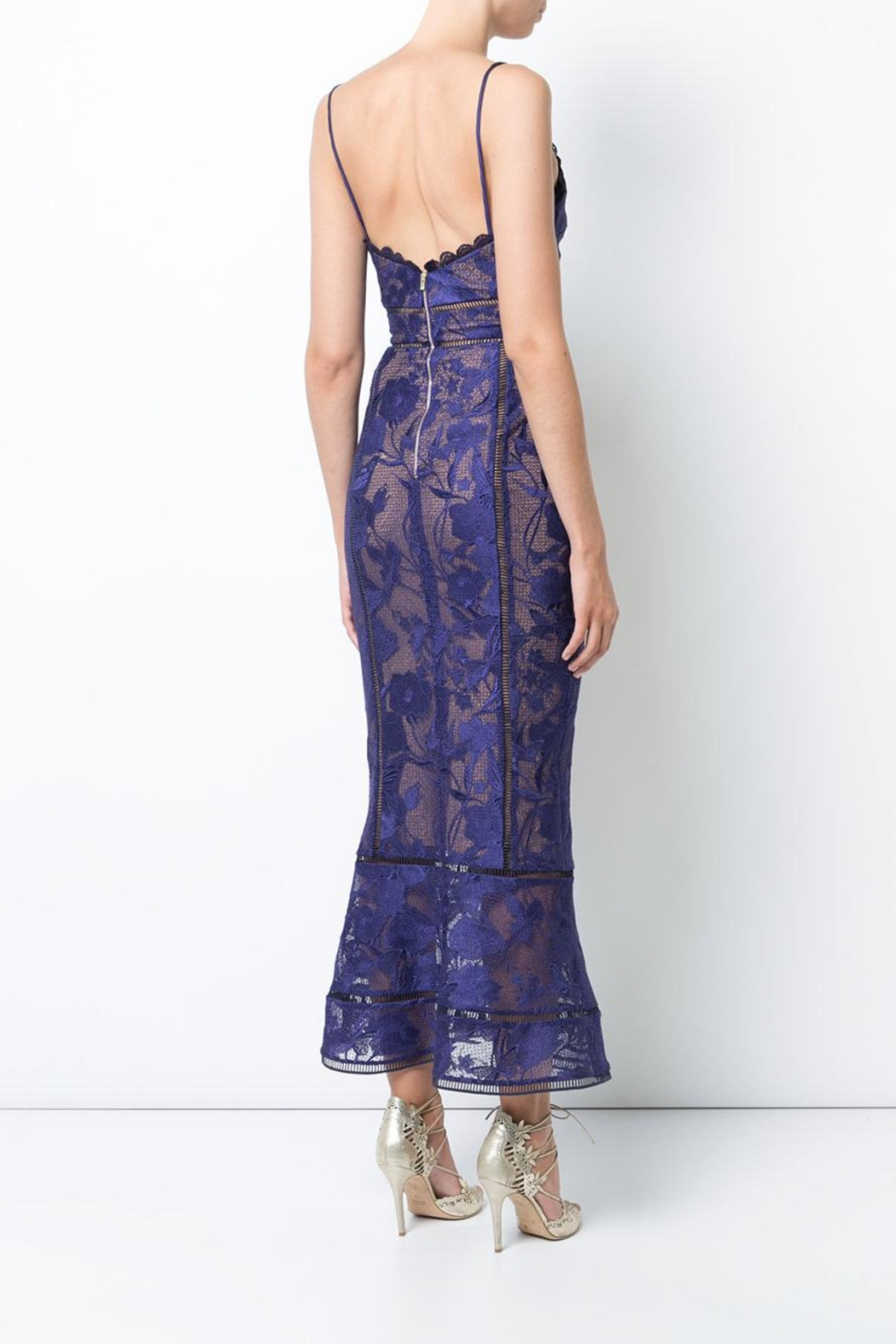 Notte by Marchesa Sleeveless Guipure Dress - Front Full Image