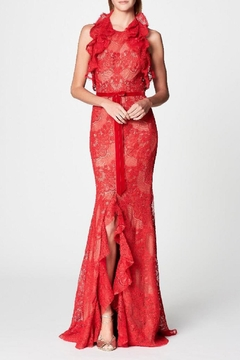 Notte by Marchesa Sleeveless Lace Gown - Alternate List Image
