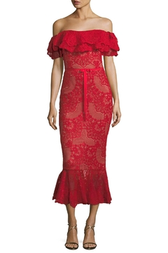 Notte by Marchesa Strapless Lace Dress - Product List Image