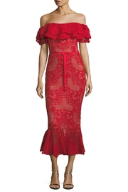 Notte by Marchesa Strapless Lace Dress - Product Mini Image