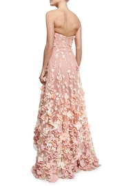 Notte by Marchesa Strapless Petal Gown - Front full body
