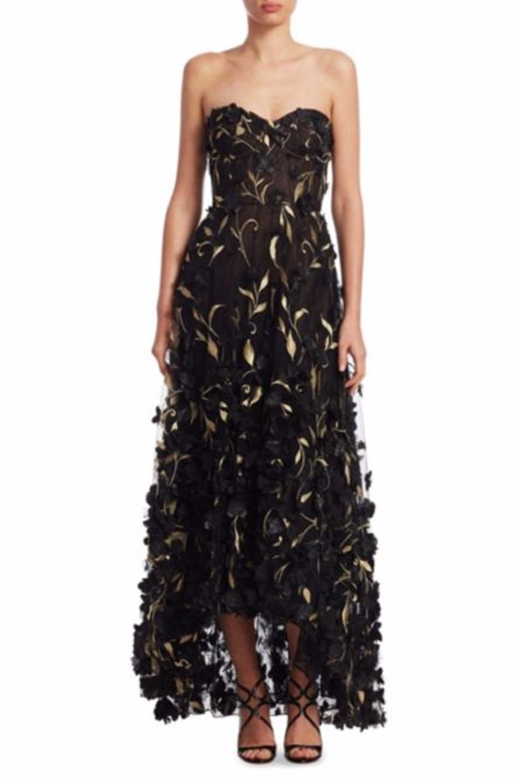 Notte by Marchesa Strapless Petal Gown - Main Image