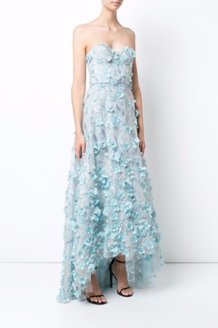 Notte by Marchesa Strapless Petal Gown - Product List Image