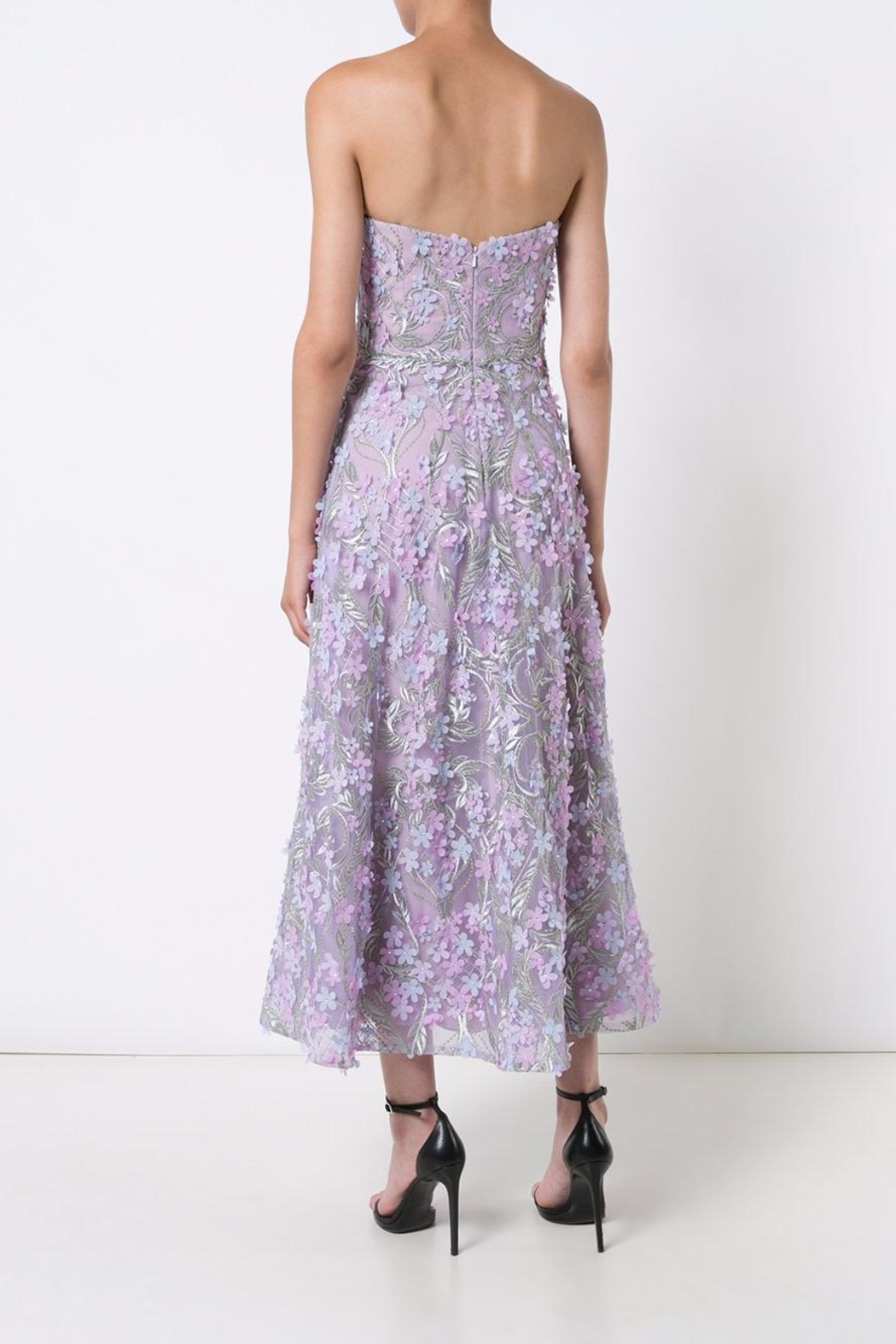 Notte by Marchesa Strapless Tea Dress - Front Full Image