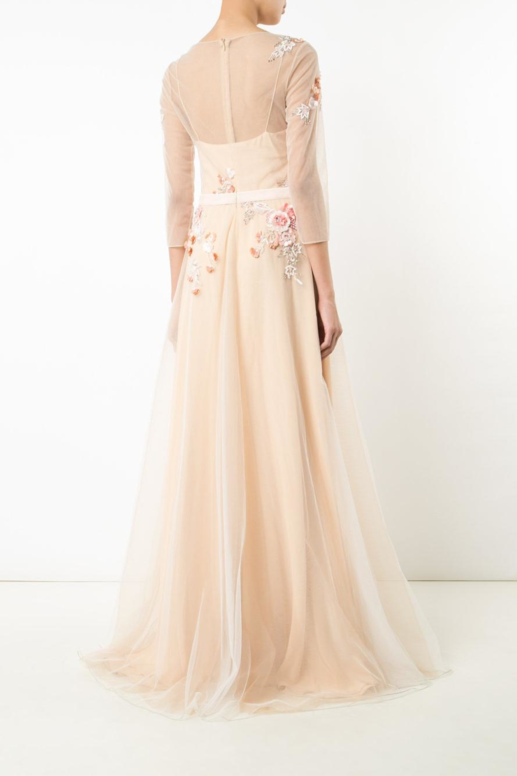 Notte by Marchesa Tulle Evening Gown - Front Full Image