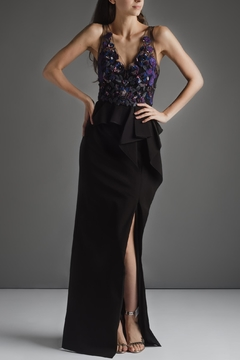 Notte by Marchesa Violet Black Flower - Product List Image