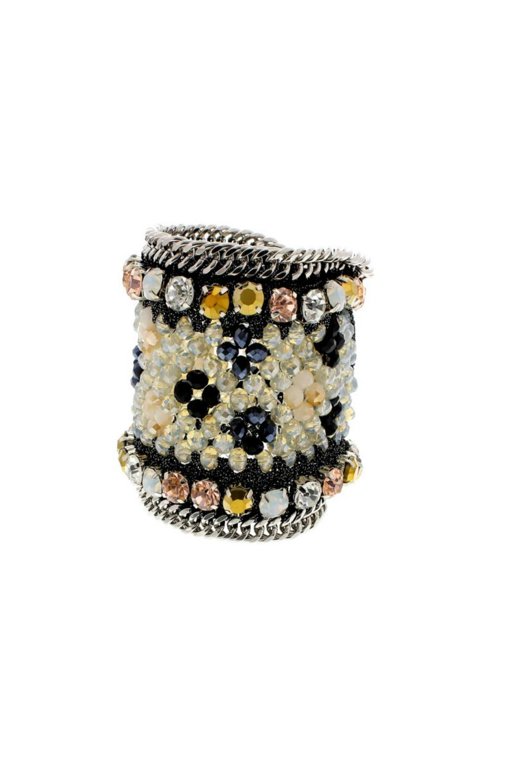 Nour London Beaded Magnetic Cuff - Main Image
