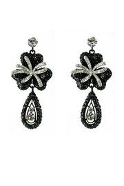 Nour London Black Clover Earrings - Product Mini Image