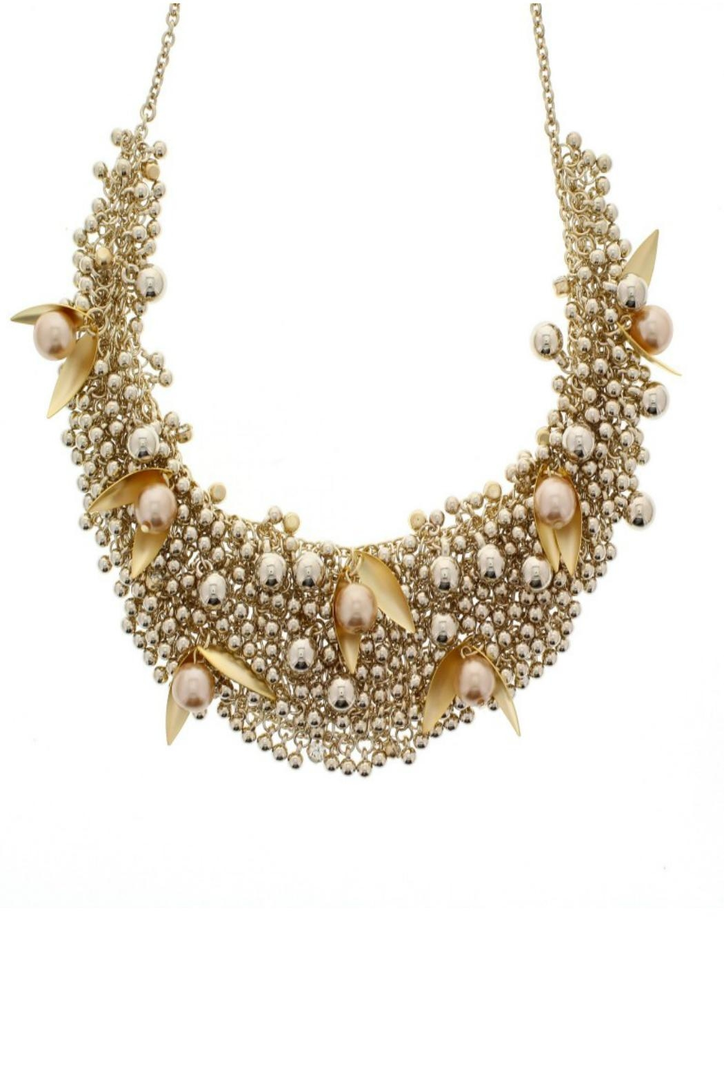 Nour London Pearl/crystal Necklaces - Front Cropped Image