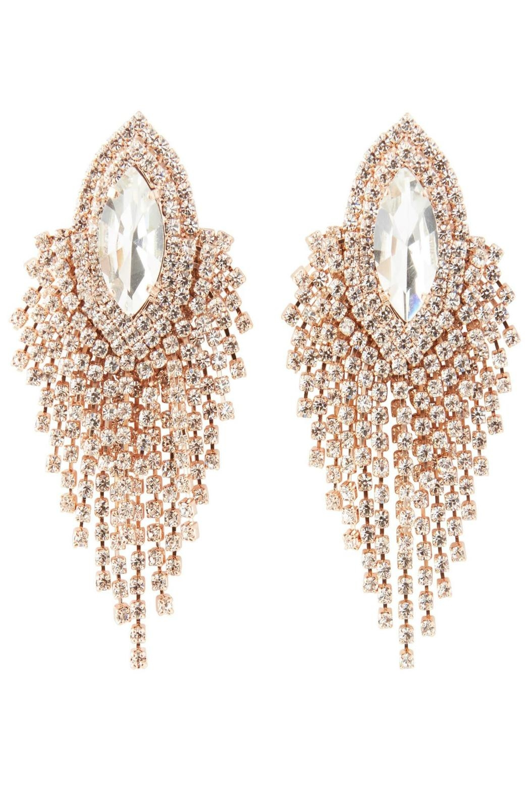 Nour London Rose Crystal Earring - Front Cropped Image