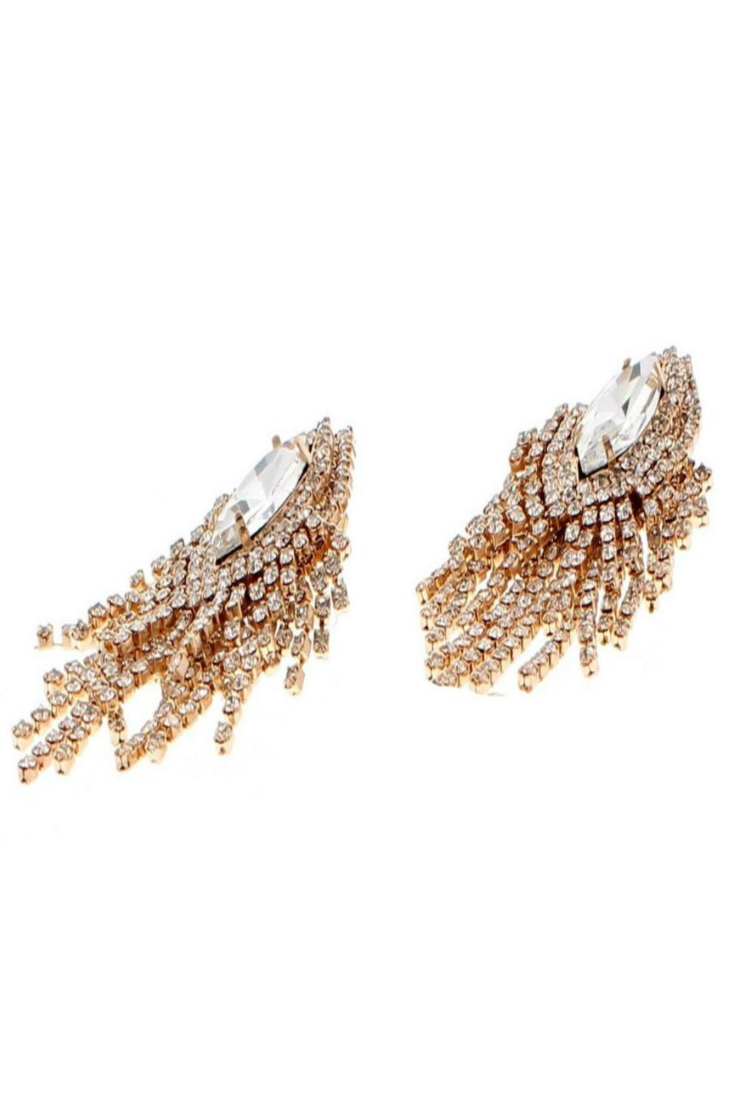Nour London Rose Crystal Earring - Side Cropped Image