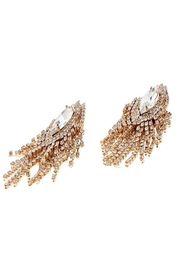 Nour London Rose Crystal Earring - Side cropped