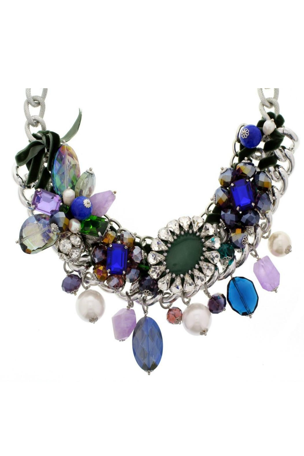 Nour London Sapphire Green Necklace - Front Full Image
