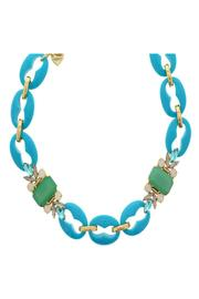 Nour London Turquoise Crystal Necklace - Product Mini Image