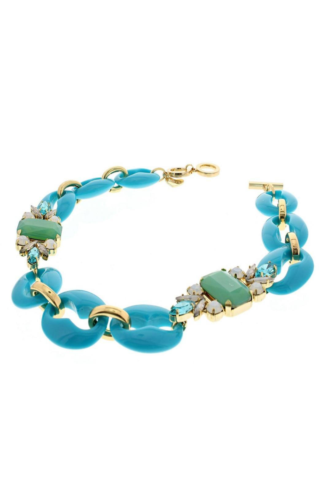 Nour London Turquoise Crystal Necklace - Front Full Image