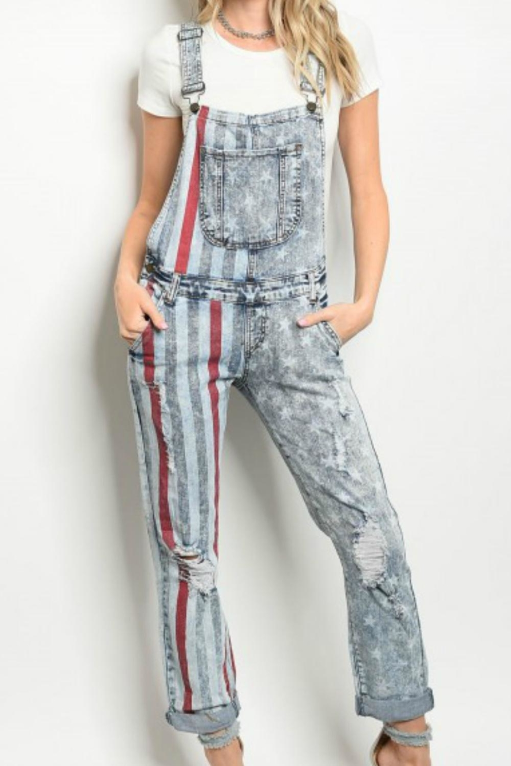 Nouvelle American Flag Overalls - Main Image
