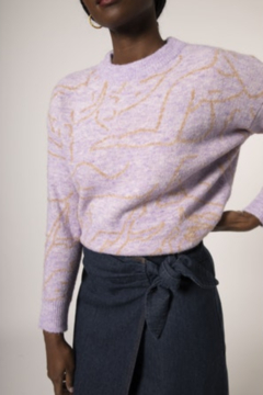 FRNCH Novato Abstract Figures Sweater - Alternate List Image