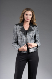 INSIGHT NYC NOVELTY JACKET METALLIC BOUCLE/BLK - Front cropped