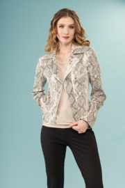 INSIGHT NYC Novelty Printed Jacket Grey Snake - Product Mini Image