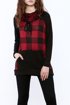 Shoptiques Product: Checkered Cowl Top