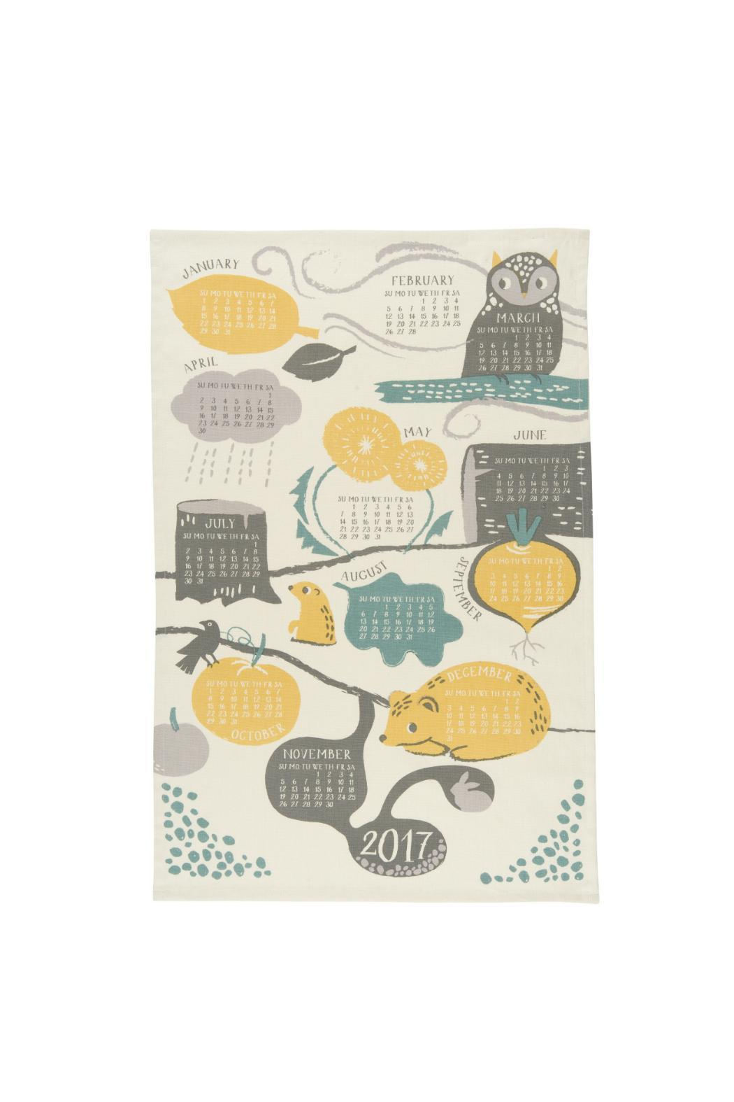Now Designs 2017 Calendar Dishtowel - Front Cropped Image
