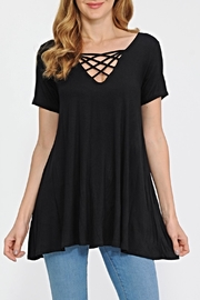 Now N Forever Black Strappy Tunic - Product Mini Image