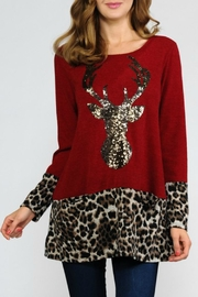 Now N Forever Reindeer Sequin Tee - Product Mini Image