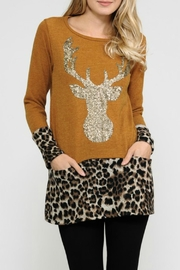 Now N Forever Reindeer Sequin Top - Product Mini Image