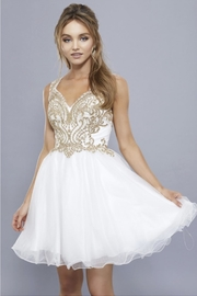 NOX A N A B E L Embroidered Short Prom-Dress - Front full body