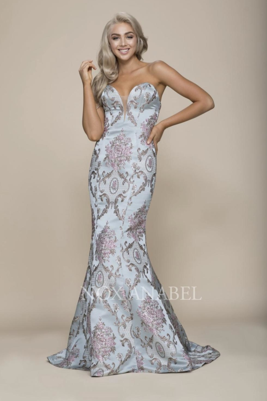 NOX A N A B E L Paisley Strapless Formal-Stress - Main Image