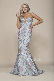 NOX A N A B E L Paisley Strapless Formal-Stress - Front cropped