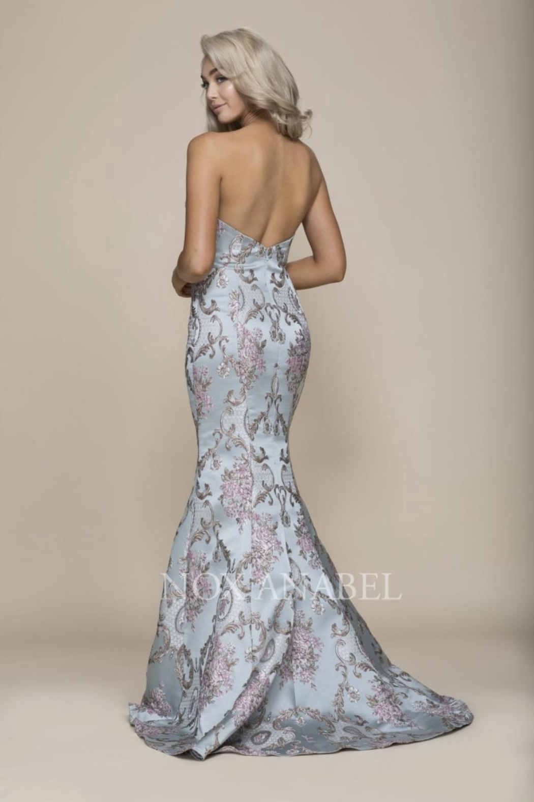 NOX A N A B E L Paisley Strapless Formal-Stress - Side Cropped Image