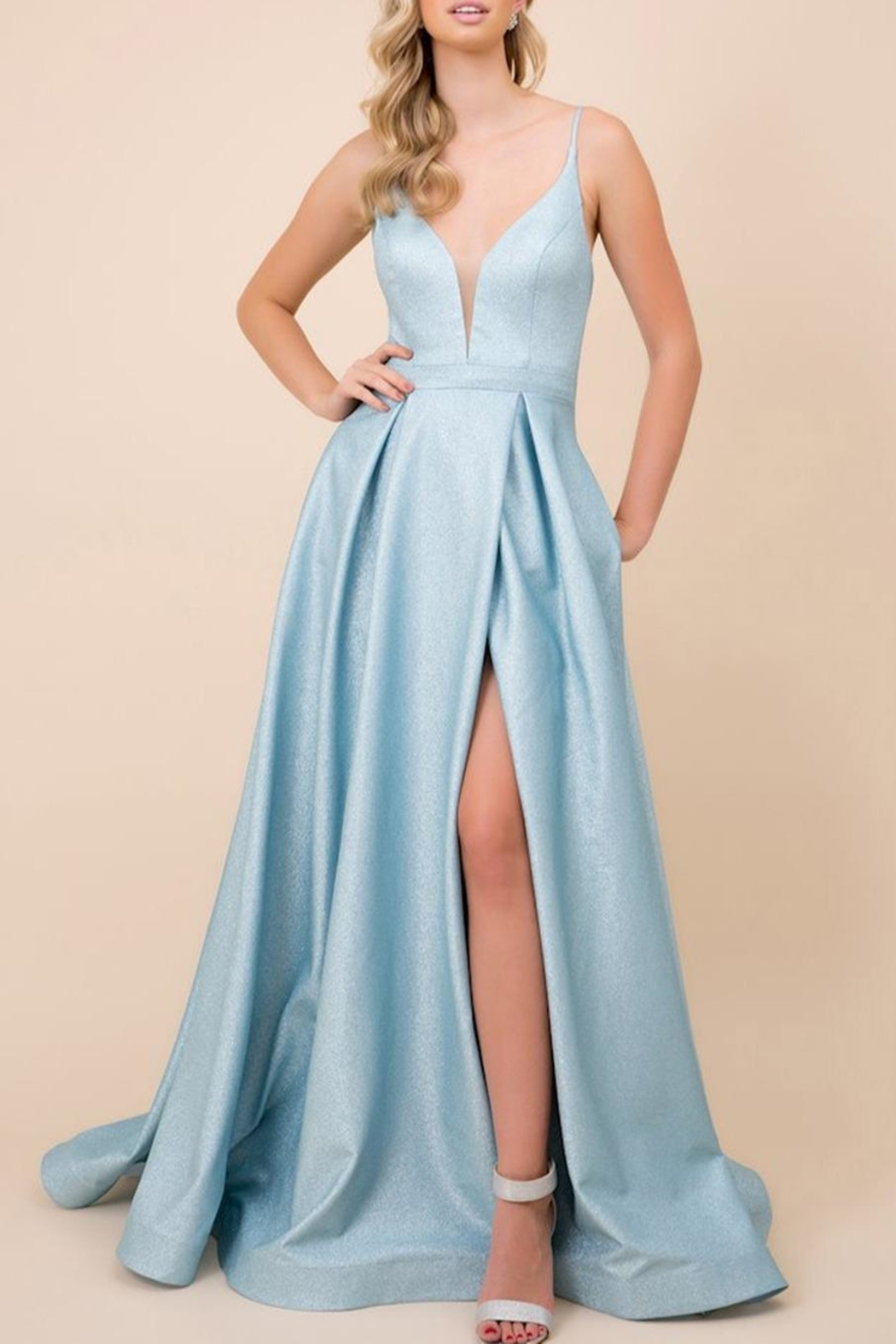 NOX A N A B E L Sparkly Evening Gown - Main Image