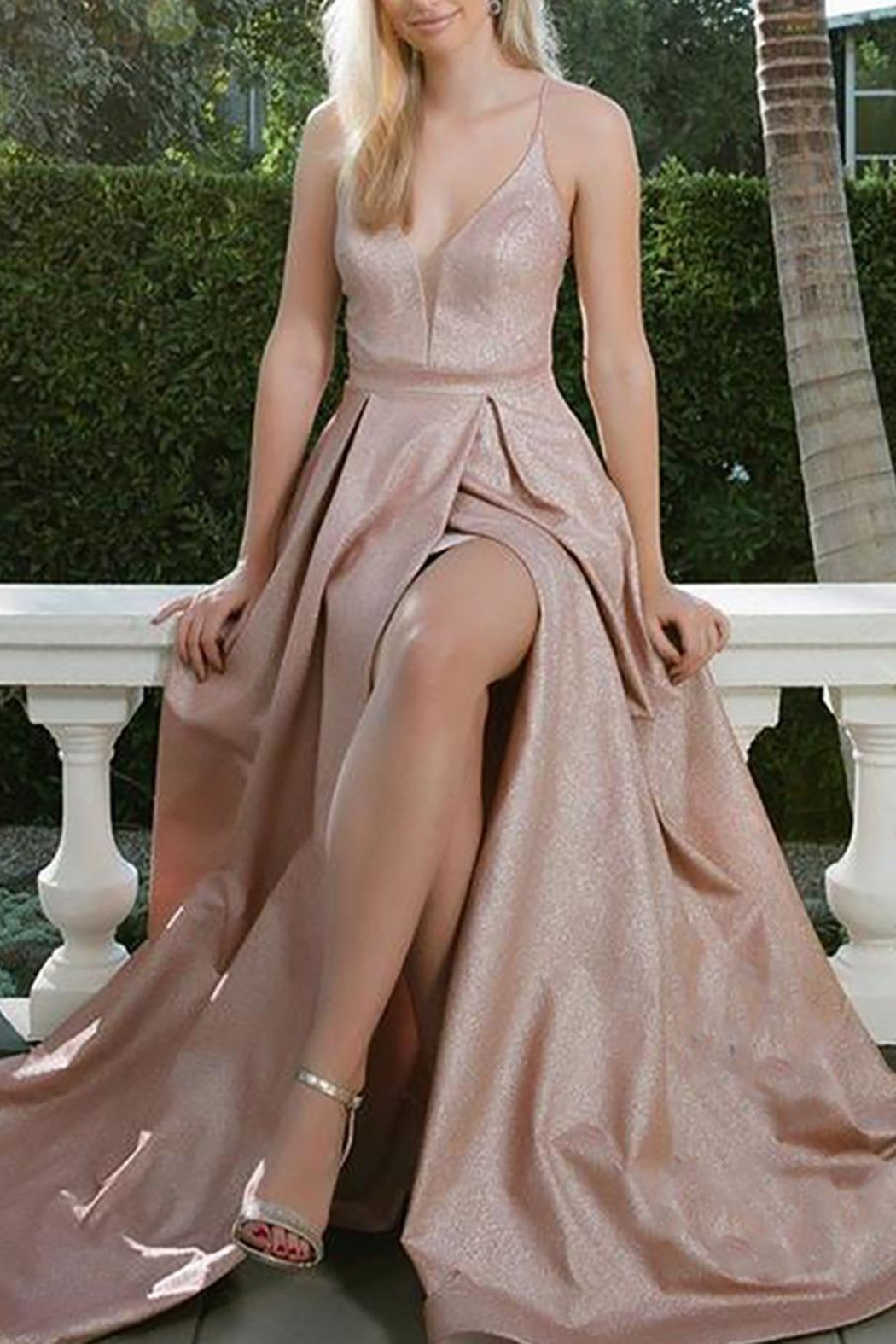 NOX A N A B E L Sparkly Evening Gown - Front Cropped Image