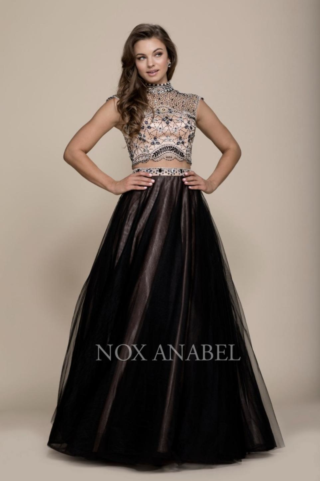 NOX A N A B E L Two-Piece Emroidered Formal-Dress - Main Image