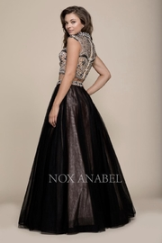 NOX A N A B E L Two-Piece Emroidered Formal-Dress - Front full body