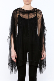 NU Denmark Black Beaded Poncho Top - Side cropped