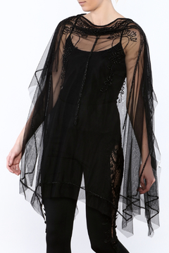 NU Denmark Black Beaded Poncho Top - Product List Image