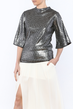 Shoptiques Product: Fun Metallic Top