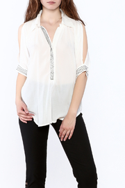 NU Denmark White Beaded Blouse - Product Mini Image