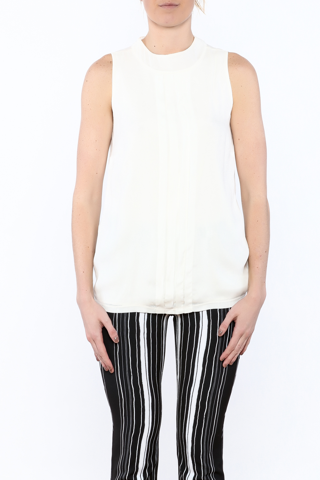 NU Denmark Sleeveless High-Neck Blouse - Side Cropped Image
