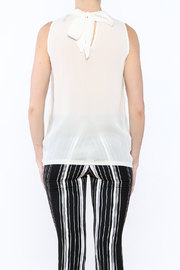 NU Denmark Sleeveless High-Neck Blouse - Back cropped
