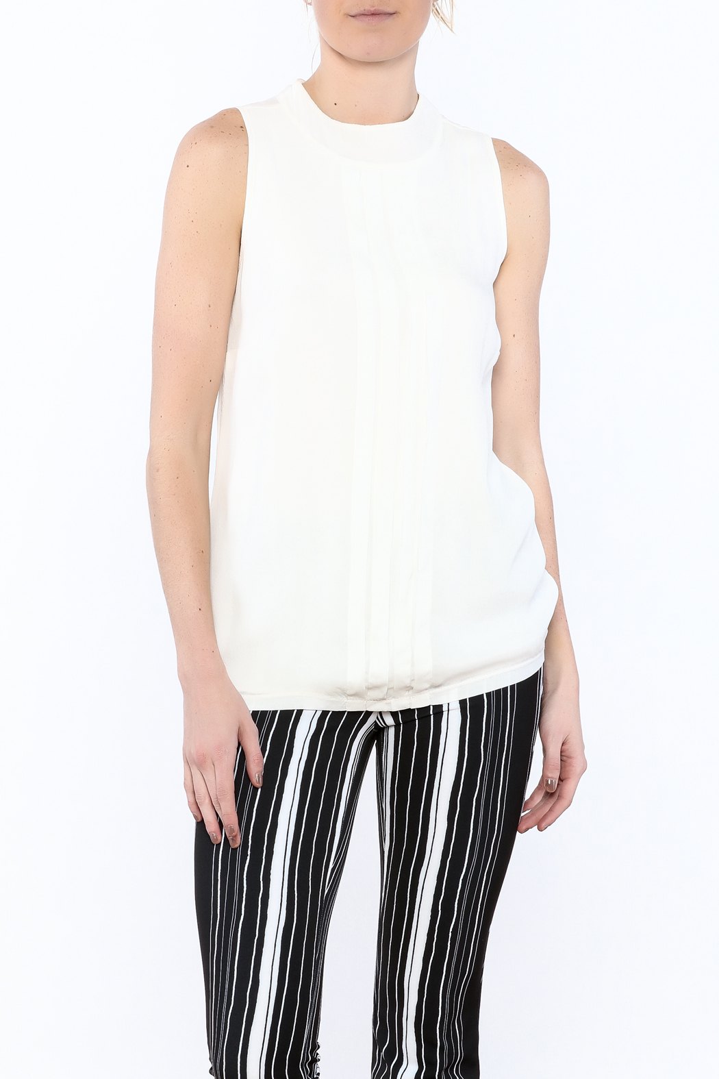 NU Denmark Sleeveless High-Neck Blouse - Main Image